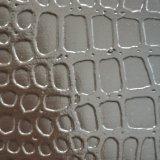 SGSの金の証明のポン丁の大きいワニの皮パターンPVCレザーは革PVC革を袋に入れる
