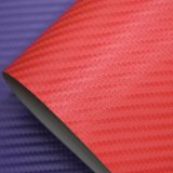 Couro artificial gravado do plutônio do teste padrão de Weave de cesta, couro de sapata