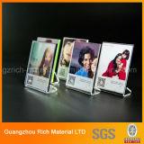 5X7 Clear Thick Desktop Product Frame d'affichage / image photo acrylique magnétique Cadre photo