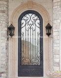 Interior de ferro forjado Porta de entrada única Porta de segurança