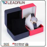 Caja de embalaje de empaquetado de la visualización del regalo del embalaje del reloj del caso del almacenaje del reloj del papel de cuero del terciopelo del rectángulo del reloj de madera (YS197A)