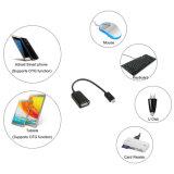 Micro- BR Mannetje aan de Vrouwelijke Kabel van de Adapter USB voor Samusung S7 S6 Rand S4 S3 Androïde met Functie OTG
