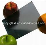 3-10mm de color gris oscuro de vidrio flotado para vidrio de construcción