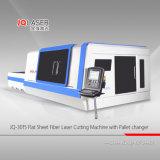 Taglio della lamina di metallo del CS della tagliatrice del laser della fibra ss