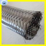 De alta presión de acero inoxidable trenzado flexible corrugado manguera de agua