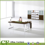 Metal Frame L Shape Furniture Boss Desk com Fixed Pedestal