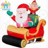 Natale di consegna della slitta dei husky del negozio gonfiabile