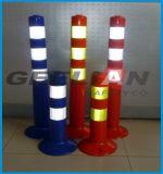 segurança elevada da entrada de automóveis do PE da visibilidade de 75cm que adverte o borne reflexivo do tráfego
