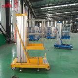 Levantador telescópico hidráulico móvil del vector de elevación de la aleación de aluminio