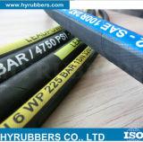 Mangueira de borracha hidráulica resistente ao calor de SAE 100r1at