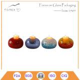 De kleurrijke Ontsproten Houder van de Kaars van het Glas, de Lamp van de Kaars