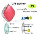 GPS WiFi Lbs (A9)를 가진 소형 GPS 추적자 키 펜던트