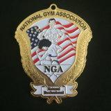 Medallas grandes de cobre amarillo de encargo de la impresión para el recuerdo