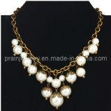 El verano de moda collar chapado en ajustar la cadena con muebles antiguos de bronce cobre perla colgante de perlas de acrílico con motivo de la Prom cumpleaños (PN 145)