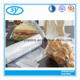 Ясный пластичный плоский мешок еды на крене