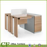 CF 서랍을 잠그기를 가진 나무로 되는 가구 사무용 컴퓨터 책상