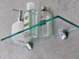Claro Templado / Endurecer de vidrio para baño agujeros de las esquinas del estante personalizadas