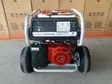 сверхмощный генератор нефти газолина 7.5kw с большими пневматическими колесами 2X и ручкой, с дистанционным стартом