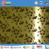 Colorer la feuille décorative enduite d'acier inoxydable avec l'IOS de GV