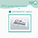 Las etiquetas sintéticas de BOPP material con offset UV para serigrafía