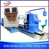 Máquina del orificio Drilling del cartabón del corte del plasma del CNC de 8 ejes para el tubo cuadrado de acero y el tubo redondo