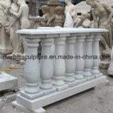 Balustrade d'escalier en marbre en pierre blanche Carrara en pierre (SY-B003)