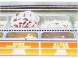 Gelato Ice Cream Display Freezing Showcase com iluminação LED