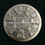Monete antiche personalizzate di sfida del metallo di finitura dell'oro