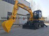 Escavatore idraulico del piccolo escavatore della rotella di Baoding 9ton