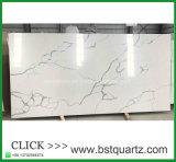 Losa grande del cuarzo de China Calacatta Nuvo en precio bajo