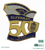 Заливка формы высокого качества 50 годовщины золота лет Pin отворотом