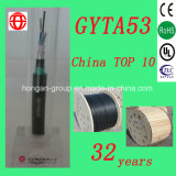 Cavo di fibra ottica corazzato esterno incagliato monomodale di memoria GYTA53 6 per sepolto