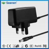 Schwarzer 18W Spannungs-Adapter Wechselstrom-12V 1.5A BS für Schaltung