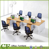 Hölzerner 6 Sitzteiler-linearer Arbeitsplatz