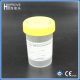 tazza di plastica del campione del contenitore dell'urina della protezione gialla 60ml