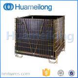 Caixa de pálete de aço do metal dobrável Demountable para o armazenamento da pré-forma do animal de estimação