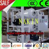 Fabricante China máquina de reciclaje de residuos de petróleo, el vacío de purificación de aceite de transformadores