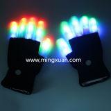 Guantes del funcionamiento del partido de Víspera de Todos los Santos de la iluminación colorida del LED que contellean