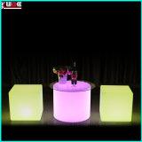 Mobilia esterna del patio della disposizione dei posti a sedere della presidenza del cubo illuminata LED della presidenza LED