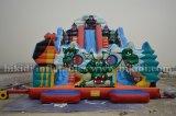おかしいInflatable WaterかDry Slide、Tri Jezdci (3人の騎士) Slide、Large Amusement Park Inflatable Water Slide
