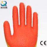 Latex de couleur de double d'interpréteur de commandes interactif de coton plongeant le gant de travail de sûreté