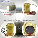 Flexible del USB de la batería recargable LED antorcha solar linterna que acampa de la linterna