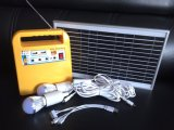 système d'alimentation à la maison solaire d'éclairage de C.C du mini Portable 10W avec le panneau