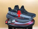 El anuncio caliente Yeezy del diseño de la manera de la venta 350 V2 alza los zapatos corrientes blancos negros de Yeezy 550by1604