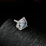 새로운 합금 원석은 반지 여자를 위한 고정되는 기하학적 설계 수정같은 보석을 박아 넣었다
