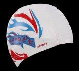 PUのコートの水泳の帽子が付いている大人のサイズのLycraの水泳の帽子