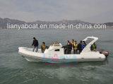 2.4mへのSunshadeの8.3m Liya Hypalon Outboard Motor Rigid Inflatable Boat