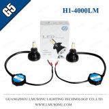 Lámpara de la niebla de la linterna de Lmusonu G5 H1 LED con el ventilador que refresca la luz de niebla de 9-36V 40W 4000lm