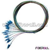 12의 섬유 0.9mm LC 광섬유 떠꺼머리 12 색깔