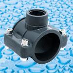 As conexões de PVC para o suprimento de água com misto de solventes